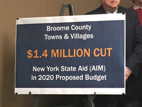 Under the proposed budget change, Broome County would lose $1.4 million in state aid.