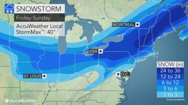 The Southern Tier of New York could get 12-24 inches of snow.