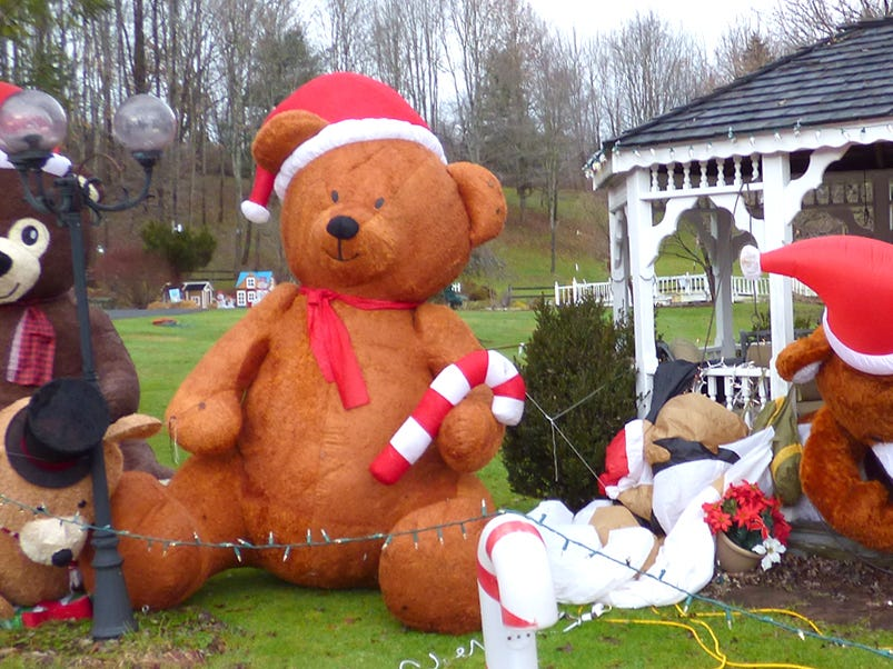 Phillips Family Christmas Display in Chenango Bridge.