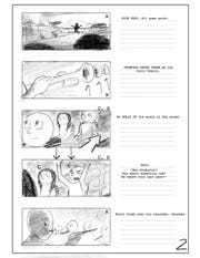 A storyboard of the PSA.