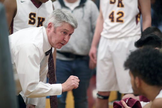 South Kitsap High School varsity head basketball coach John Callaghan won his 300th game against Bellarmine at South Kitsap on Thursday, January 17, 2019.