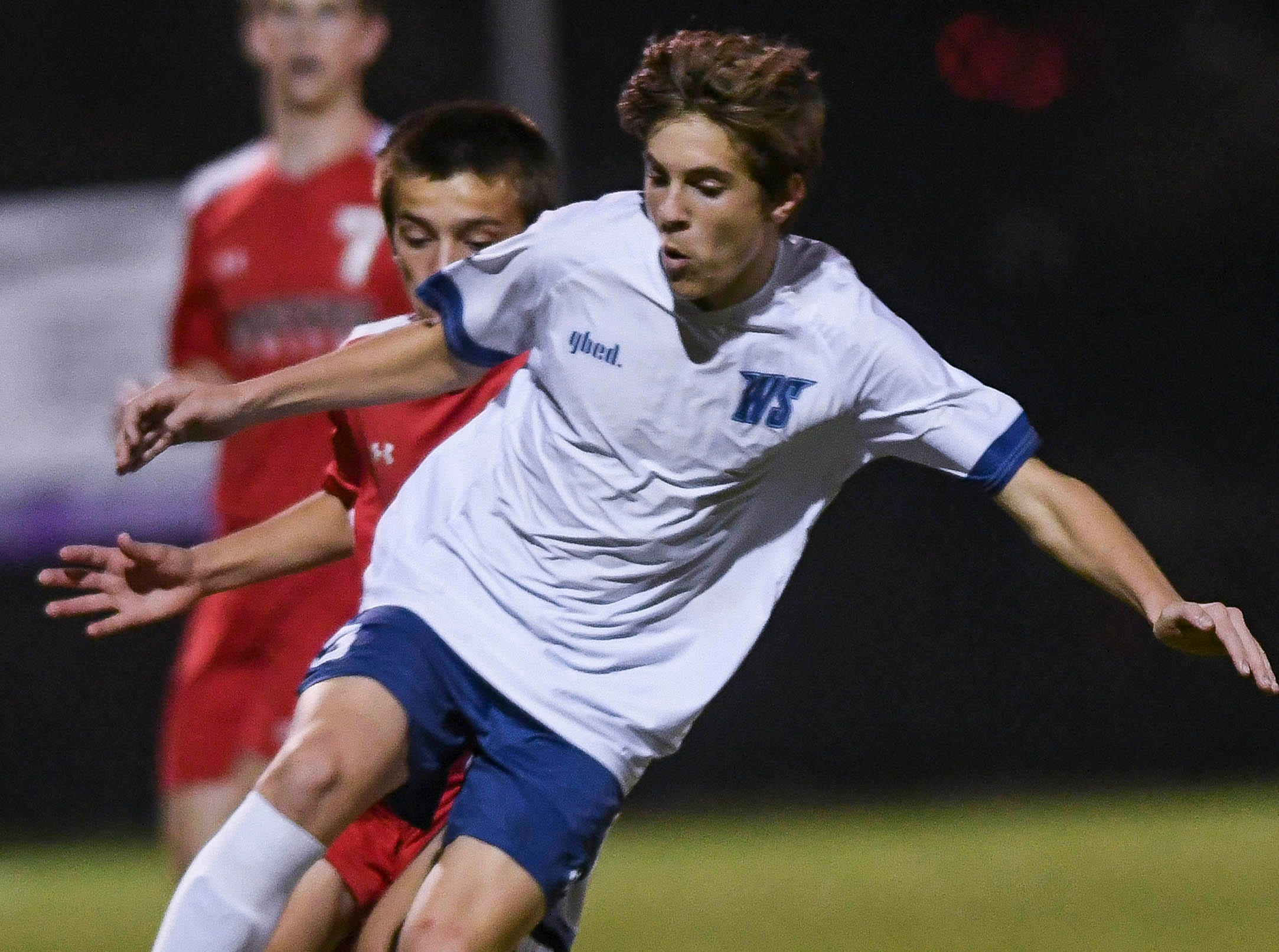 Gavin Robidoux of West Shore passes to a teammate during Thursday's Cape Coast Conference championship game.
