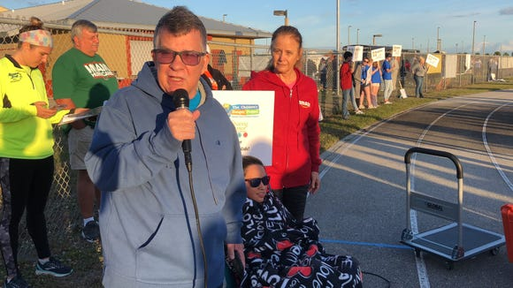 FLORIDA TODAY Executive Editor Bob Gabordi, daughter Jessica Gabordi and wife Donna attend the 2019 Fight Child Hunger 5K at Viera High. Bob and Jessica once again co-chaired the 5K.
