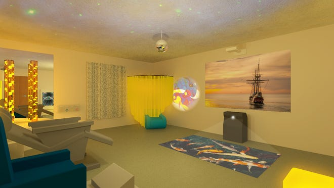 A look inside the Snoezelen Therapy Room at Chateau Madeleine in Suntree. The setting is helping Alzheimer's patients improve their memory and response to their environment