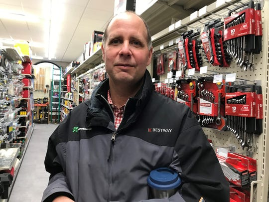 Gordon Winters owns six hardware stores, including the new City Hardware store in downtown Burlington.