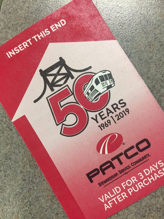 The PATCO Hi-Speedline will begin using this new paper ticket Tuesday in celebration of its 50th year operating the Lindenwold-Philadelphia line.