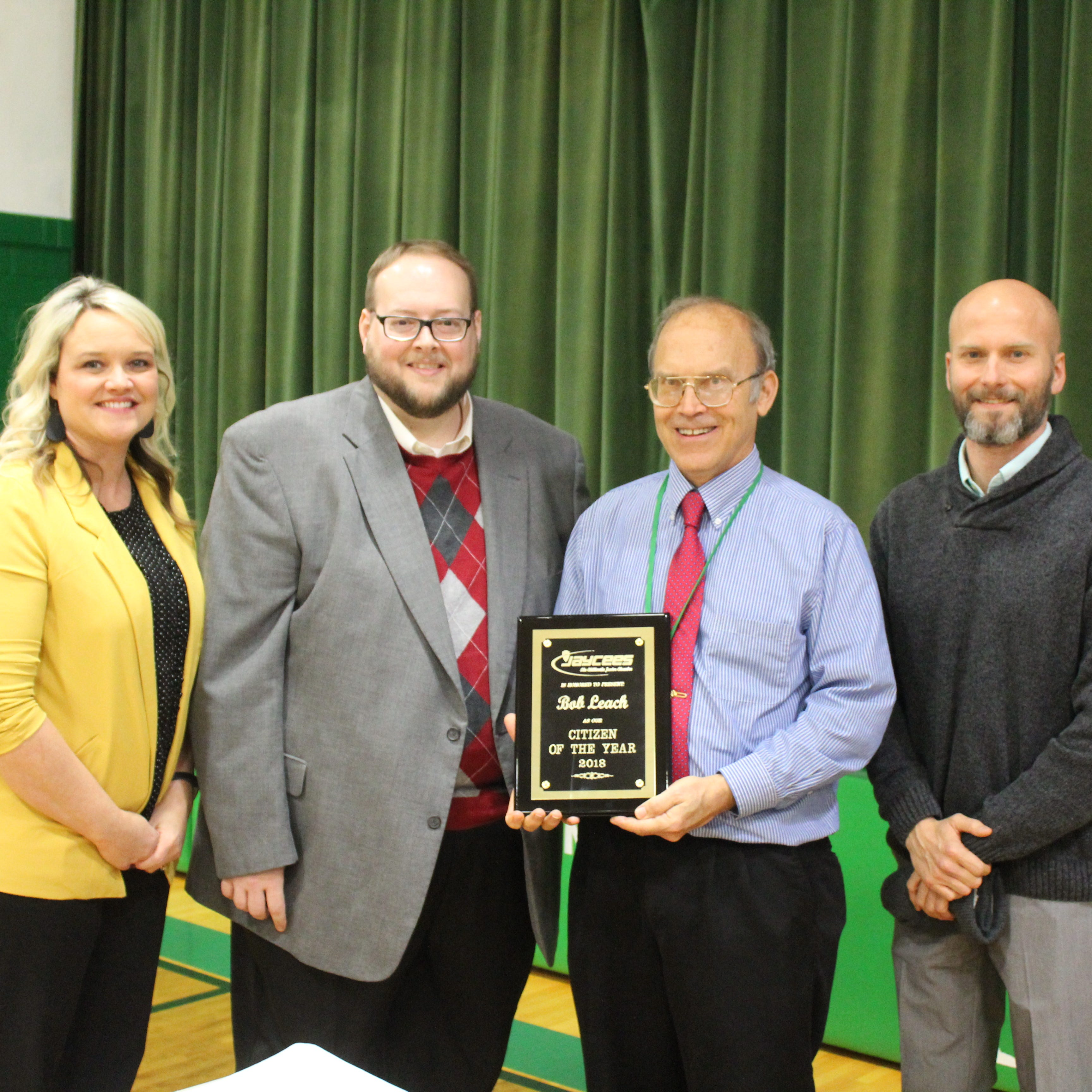 Leach surprised with Citizen of the Year award