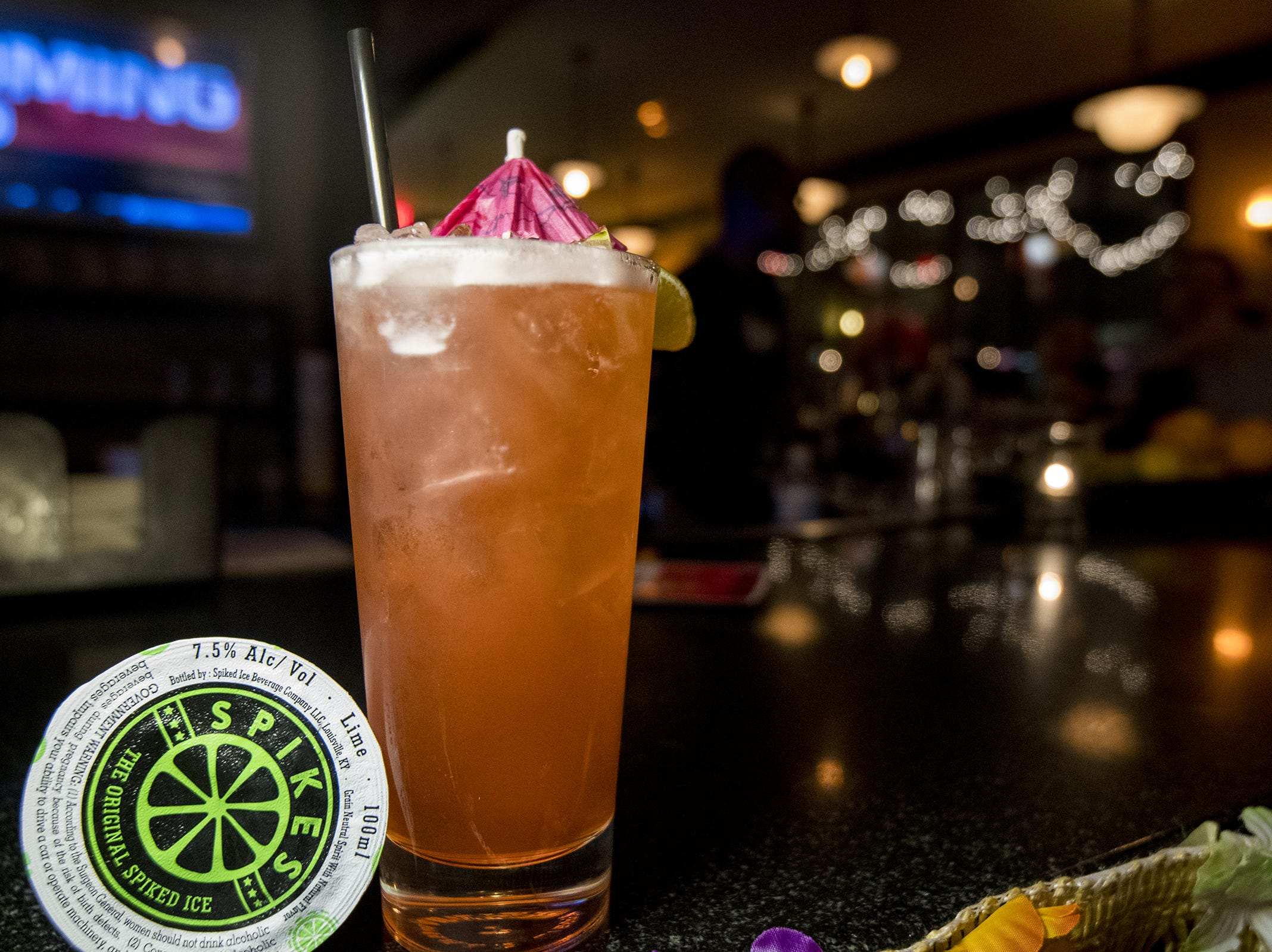 Nellie's Taproom serves up specialty themed drinks during Beach Night at Taft's Ale House January 17, 2019 in Cincinnati, Ohio.