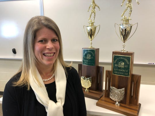Indian Hill High School Coach Amy Dunlap was named National Coach of the Year by the National Federation of State High School Associations.