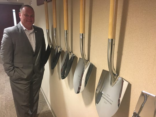 Jeff Truitt officially becomes CEO of the Clarksville-Montgomery County Economic Development Council on Feb. 18. He hopes to keep adding to the shovels that symbolize the groundbreakings of business growth.