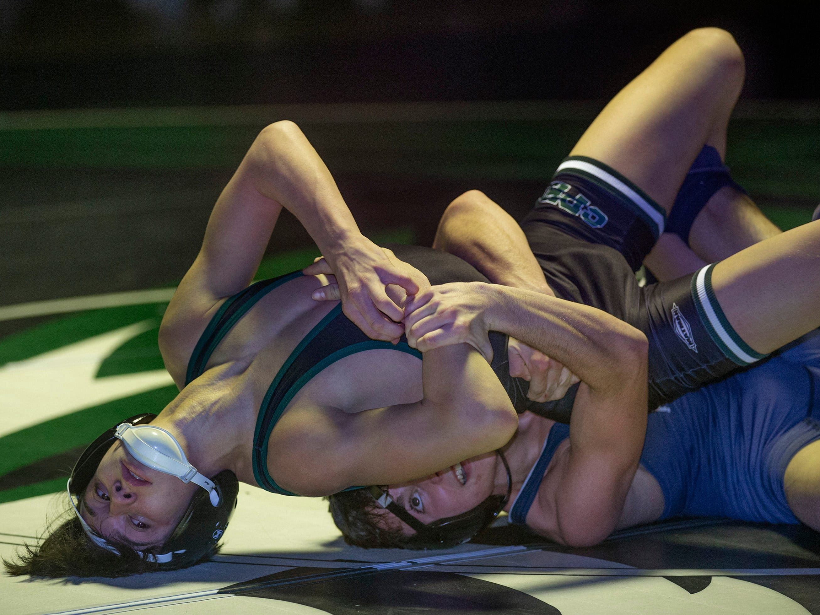Howell Wrestling edges out South Plainfield in South Plainfield NJ on January 17, 2019.