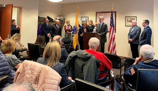 Rep. Frank Pallone and Rep. Bonnie Watson Coleman met in Metuchen to call for the end of the federal government shutdown.