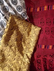 Franklin Township Public Library is hosting an arts and textiles exhibit of Ghana, west Africa through Thursday, Feb. 28.