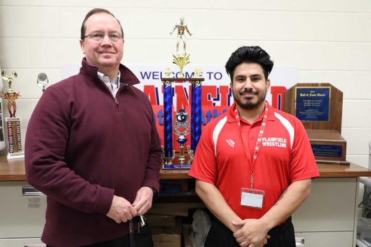 Plainfield athletic director John Quinn and wrestling coach Will Dodd