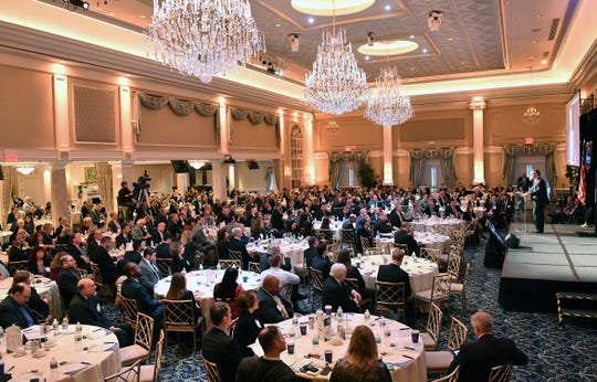 Federal Reserve Bank of New York President-CEO John C. Willliams speaks at the New Jersey Bankers Association's eighth annual Economic Leaders Forum on Jan. 18 at The Palace at Somerset in Franklin Township.