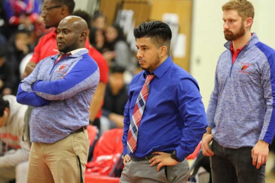 The Plainfield wrestling coaches (from left to right) Derrick Washington, Antenor Petitfrere, Will Dodd and Jake Hansen