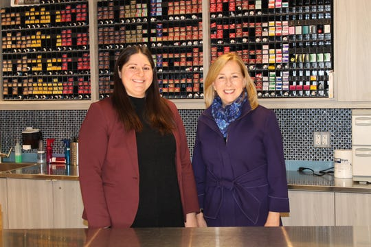 (Left to right) Randee Holz, supervisor of Academics at Somerset County Vocational & Technical Schools and Marcia Bird, director of Beauty Professional Programs at Raritan Valley Community College.