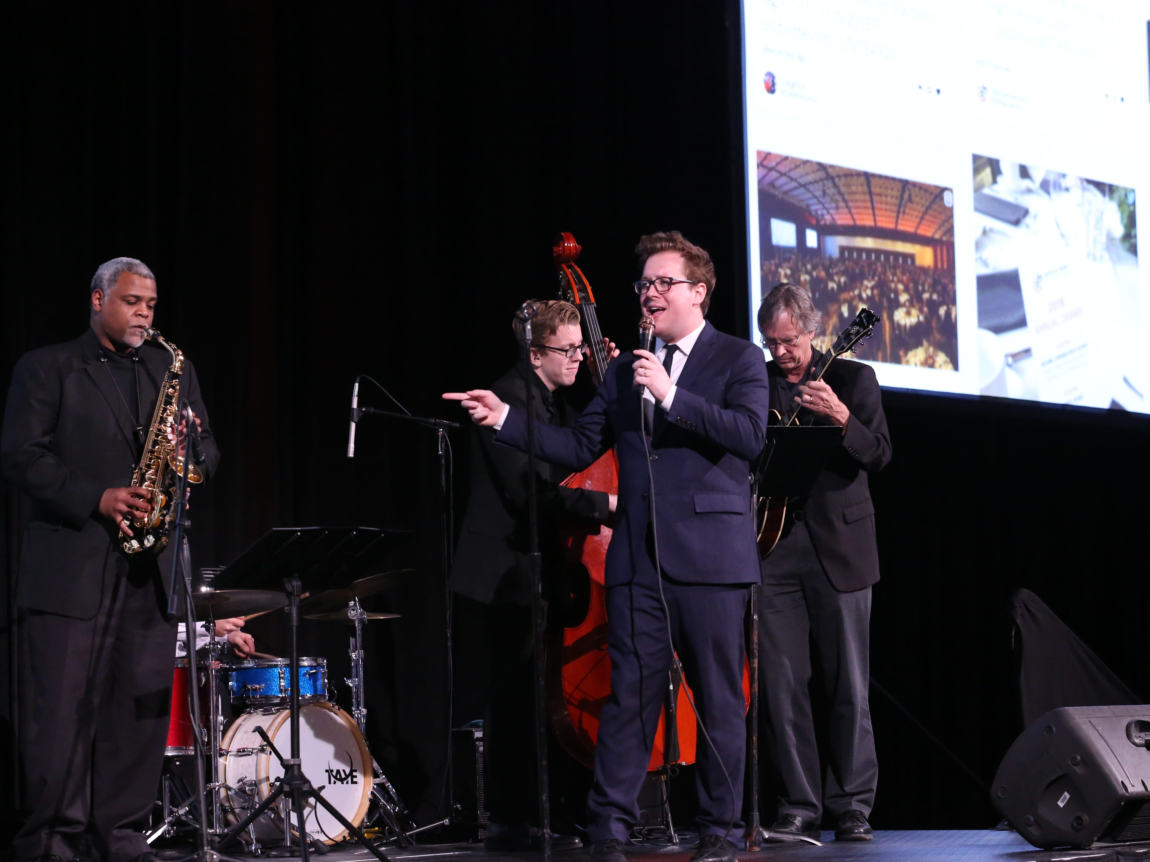 Max Wellman provided the pre-program and dinnertime entertainment at the Greater Des Moines Partnership's Annual Dinner on January 17, 2019 at the Iowa Events Center.