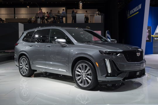 A 2020 Cadillac XT6 Sport at the 2019 North American International Auto Show held at Cobo Center in downtown Detroit on Tuesday, Jan. 15, 2019.