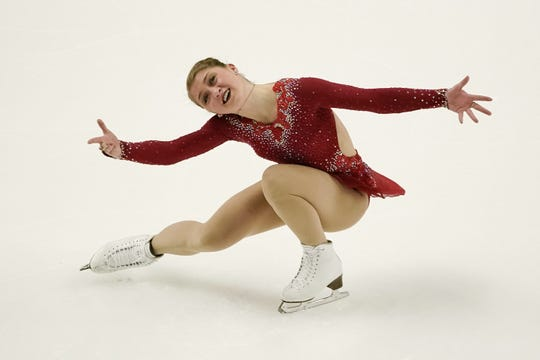 Hannah Miller performs in the 2018 Prudential U.S. Figure Skating Championships in San Jose, California.