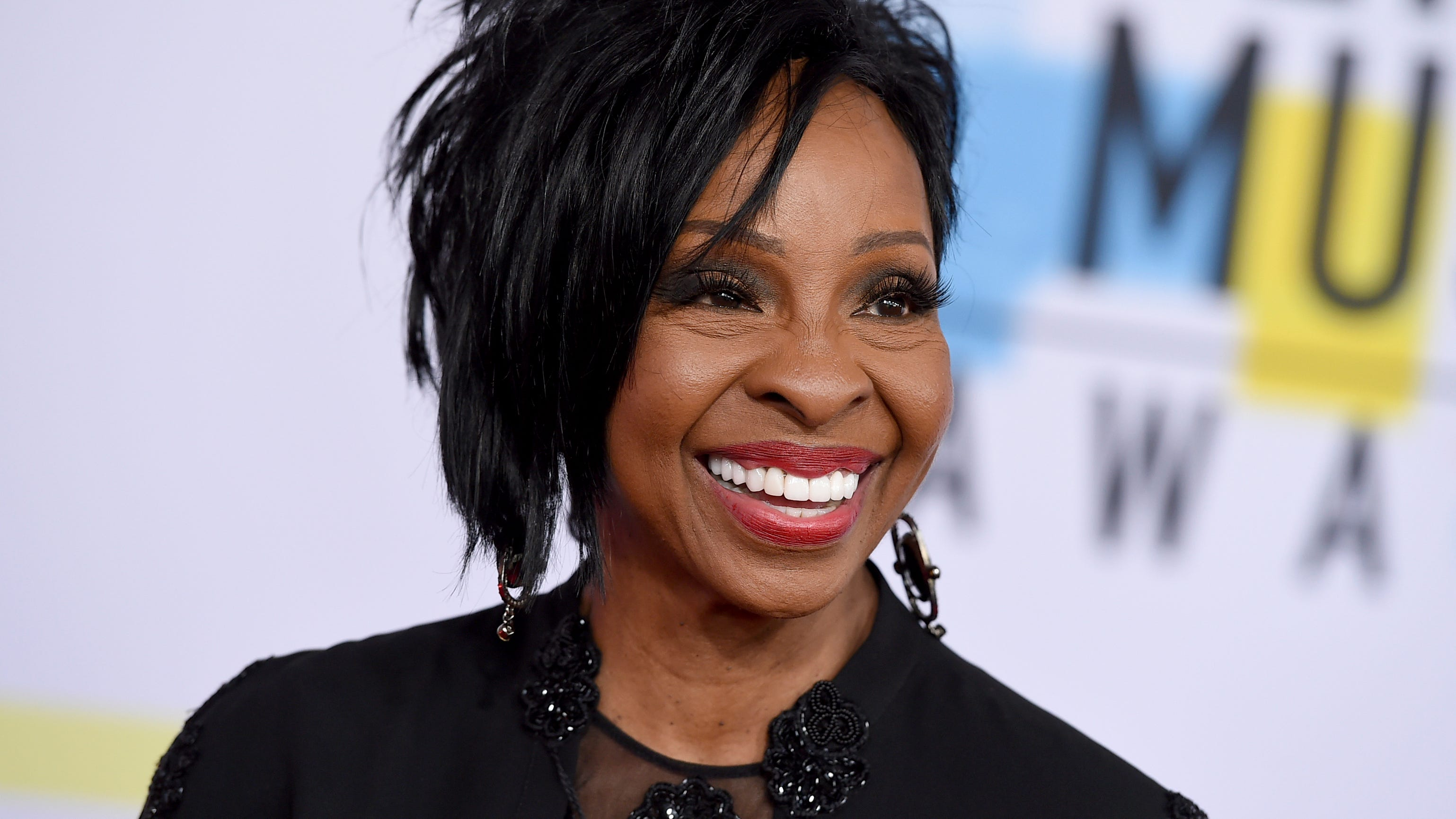 """Gladys Knight arrives at the American Music Awards at the Microsoft Theater in Los Angeles on Oct. 9, 2018. The seven-time Grammy winner will sing """"The Star-Spangled Banner"""" at this year's Super Bowl, Sunday, Feb. 3, 2019."""