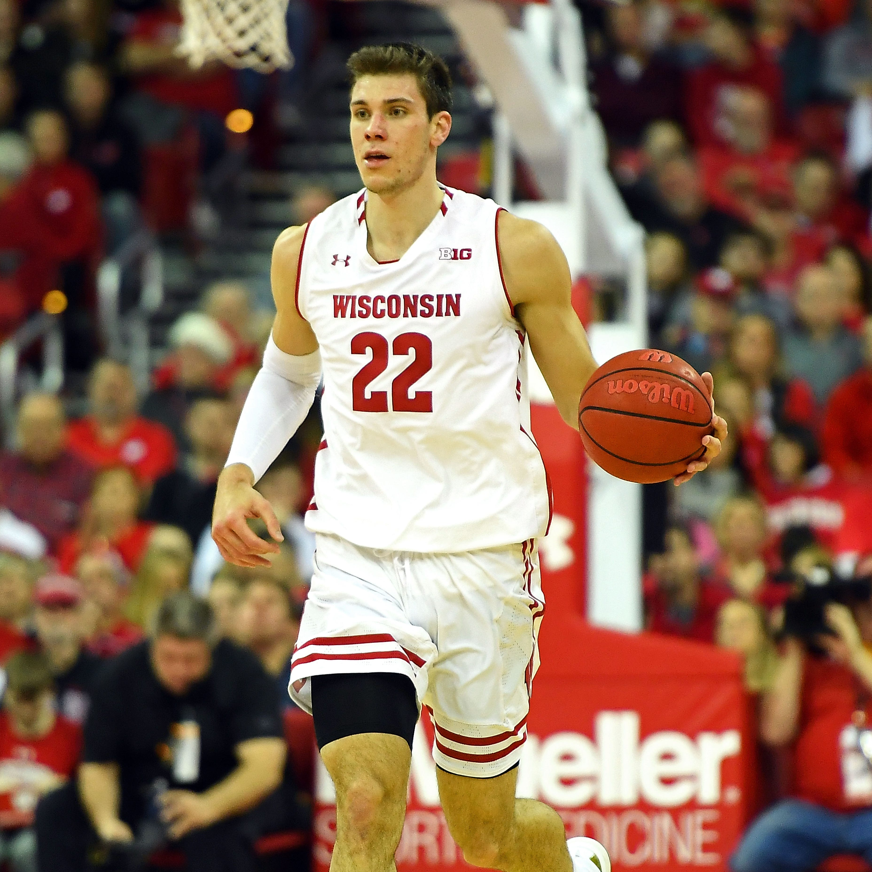 Wisconsin's do-everything Ethan Happ a big burden for Michigan