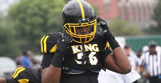 Lineman Deondre Buford was one of two Detroit King standouts to receive offers recently from Michigan State.