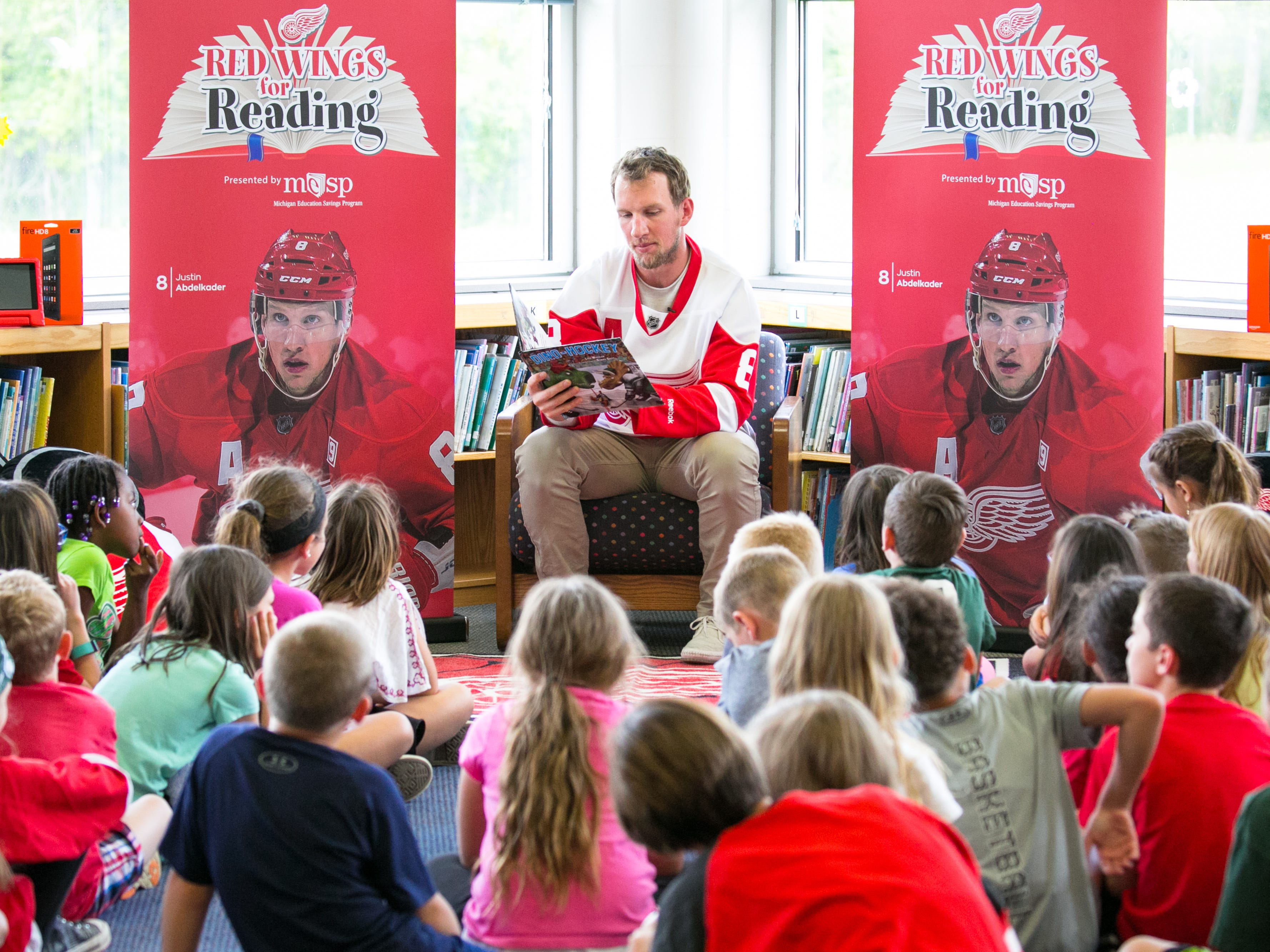 Red Wings' Justin Abdelkader hopes to inspire kids with his book