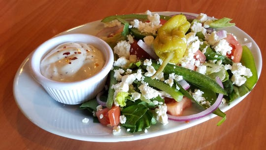 The Spankey's Salad with feta and ranch.