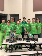 The South Eden Robotics Club at a recent event where they took home tournament champions and robotics skills champion, among other awards. From left, Joe Krahn, Garrett Roehl, Jacob Fabry, Braeden Heltemes, Ike Grahl, Henry Hathaway, Mitchell Gonzalez, Connor Hamm and Sam Grahl.