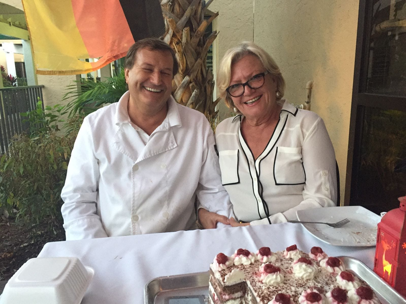 Helmut and Annemarie Heiss own the new Schnitzel Express food truck.