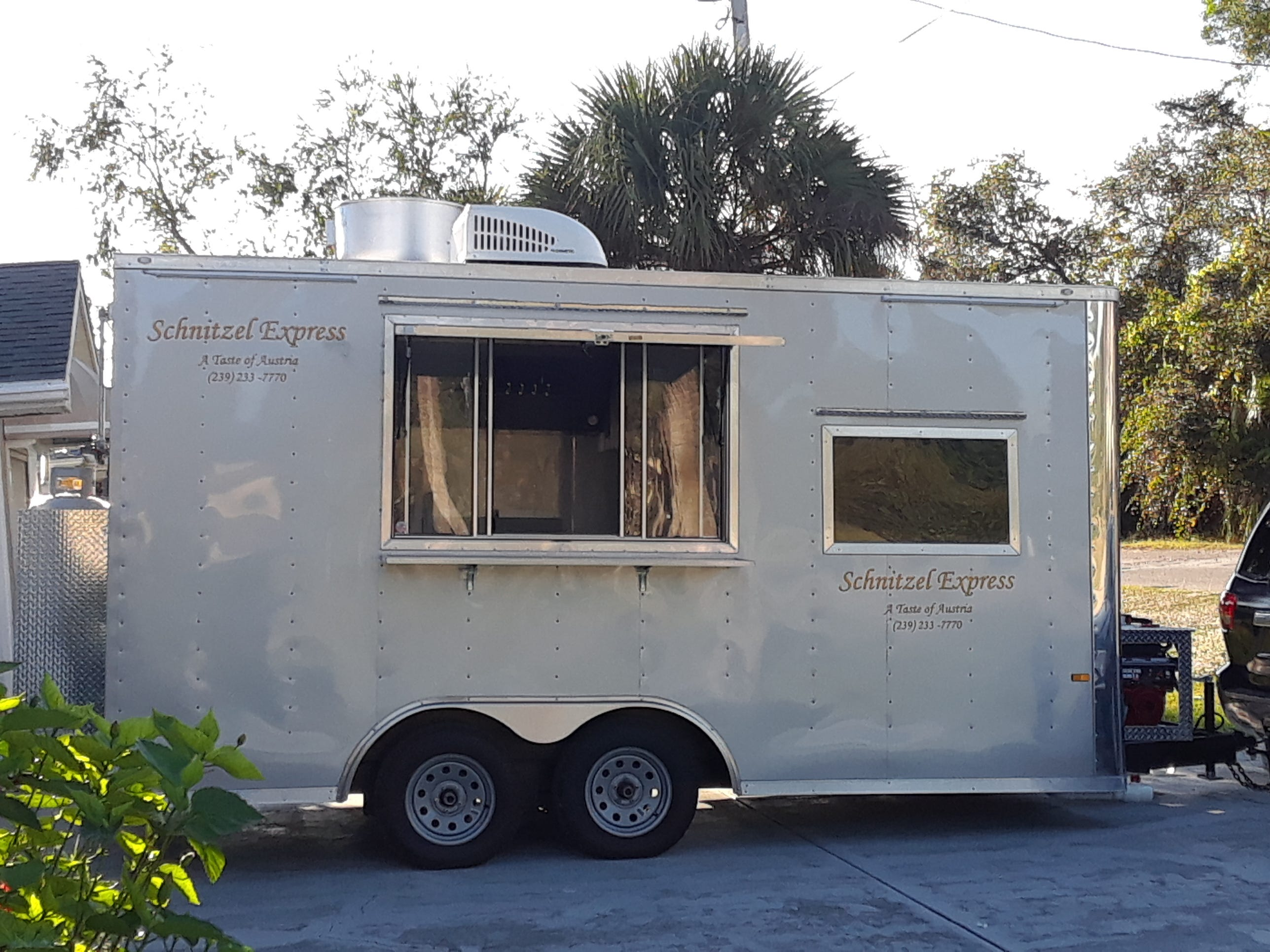 The Schnitzel Express food truck launched in December 2018. From the owner of the old Austrian-German Restaurant, the truck hits breweries in Fort Myers and Cape Coral.
