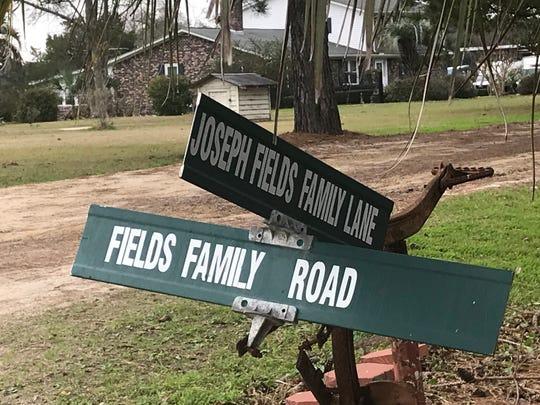 A sign at Joseph Fields Farm on John's Island, S.C.