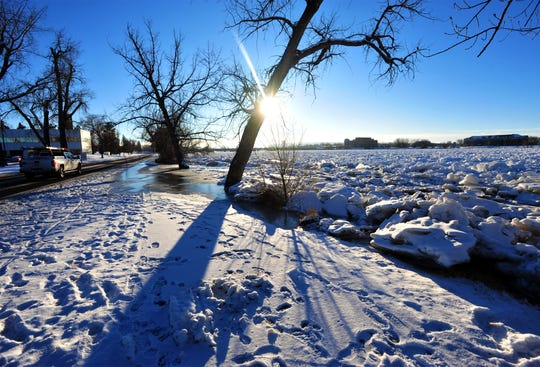 An ice jam on the Missouri River in Great Falls caused minor flooding Friday.