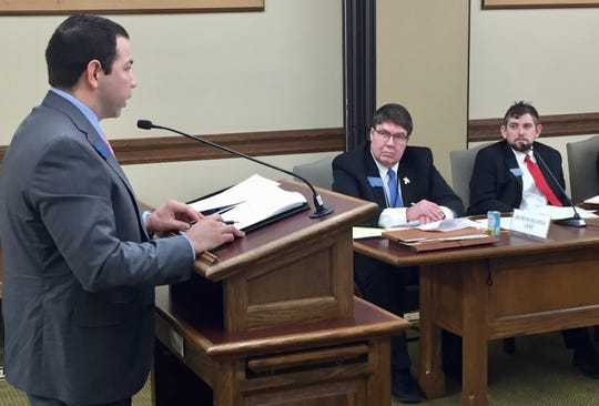 Rep. Shane Morigeau, D-Missoula, discusses House Bill 173 on Friday with the House Judiciary Committee.