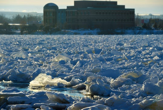 An ice jam on the Missouri River in Great Falls has caused minor flooding.