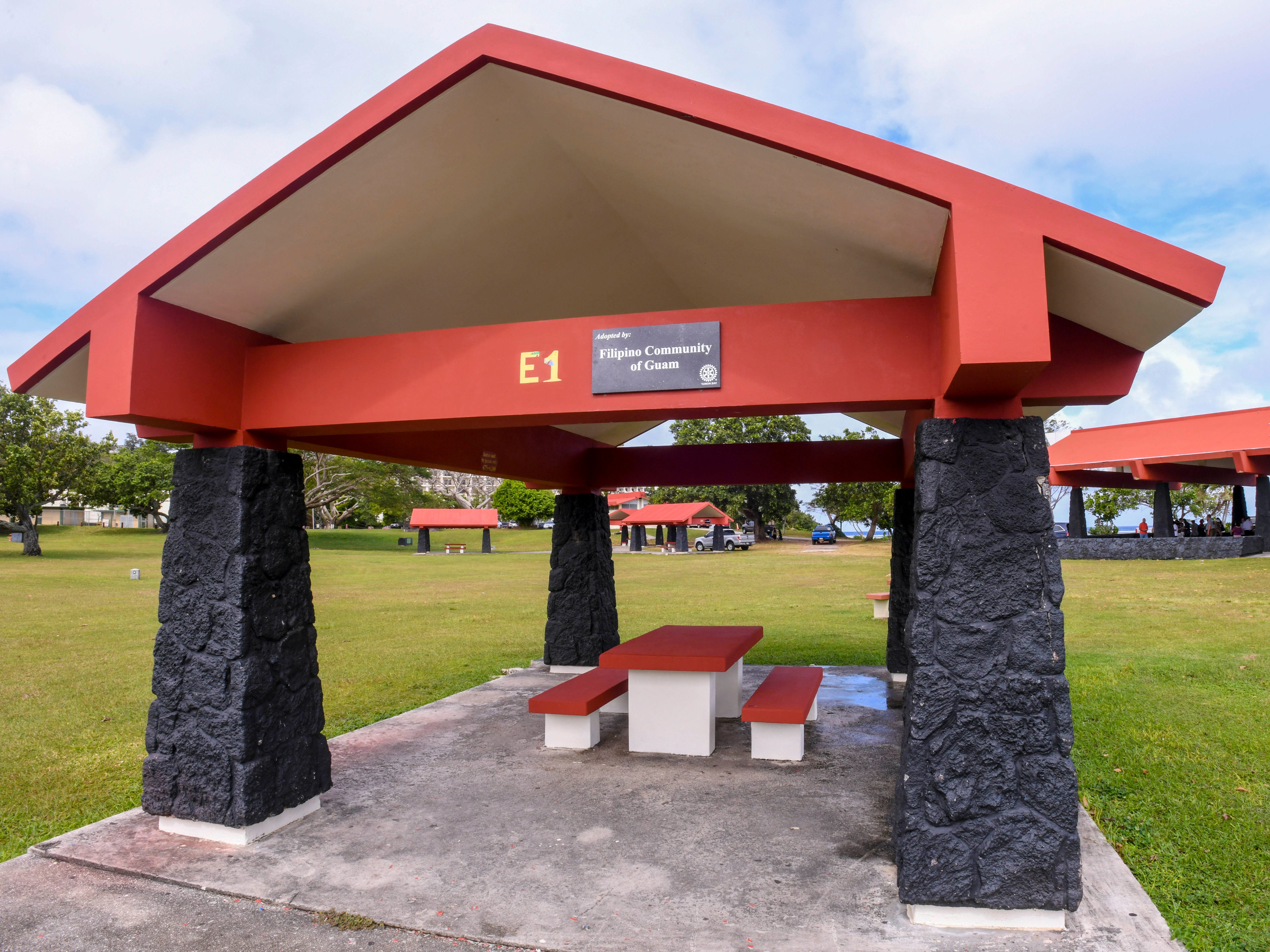 The Rotary Club of Tumon Bay, through its Adopt-a-Shelter project and the assistance of its members and a collection of local businesses, repaired and renovated dilapidated pavilions at Gov. Joseph Flores Memorial Park in Tumon, as seen after an unveiling ceremony on Friday, Jan. 18, 2019.