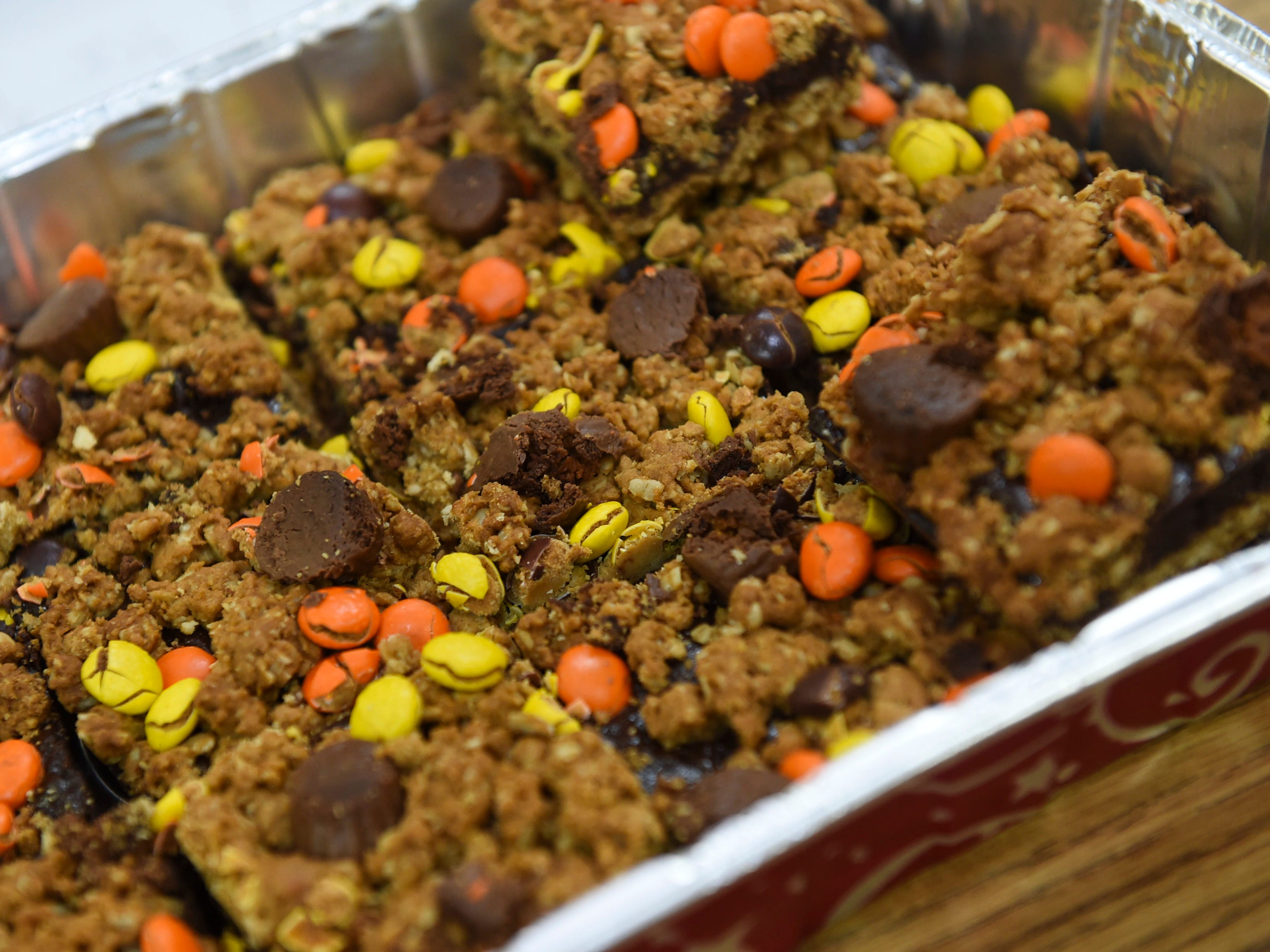 A baked treat displayed during the 5th Annual Ysrael School of Business Retail Bazaar and Entrepreneur Fair at Our Lady of Mount Carmel Catholic School in Agat, Jan. 18, 2019.