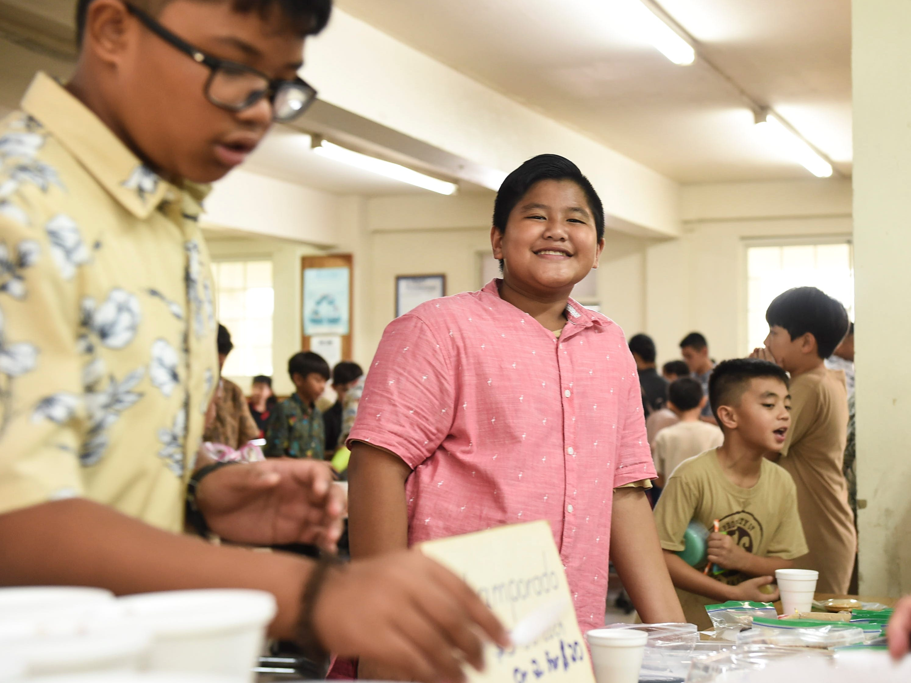 Colin Santos, 11, during the 5th Annual Ysrael School of Business Retail Bazaar and Entrepreneur Fair at Our Lady of Mount Carmel Catholic School in Agat, Jan. 18, 2019.
