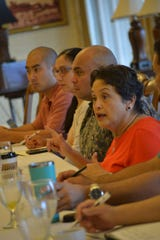 Gov. Lou Leon Guerrero and Lt. Gov. Josh Tenorio host a breakfast meeting with members of the Legislature's Democratic majority on Friday, the first official Government House event.