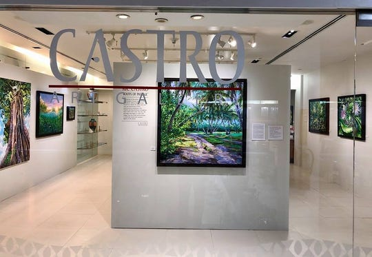 Local artist Ric Castro opens the Castro Art Gallery in the Tumon Sands Plaza.