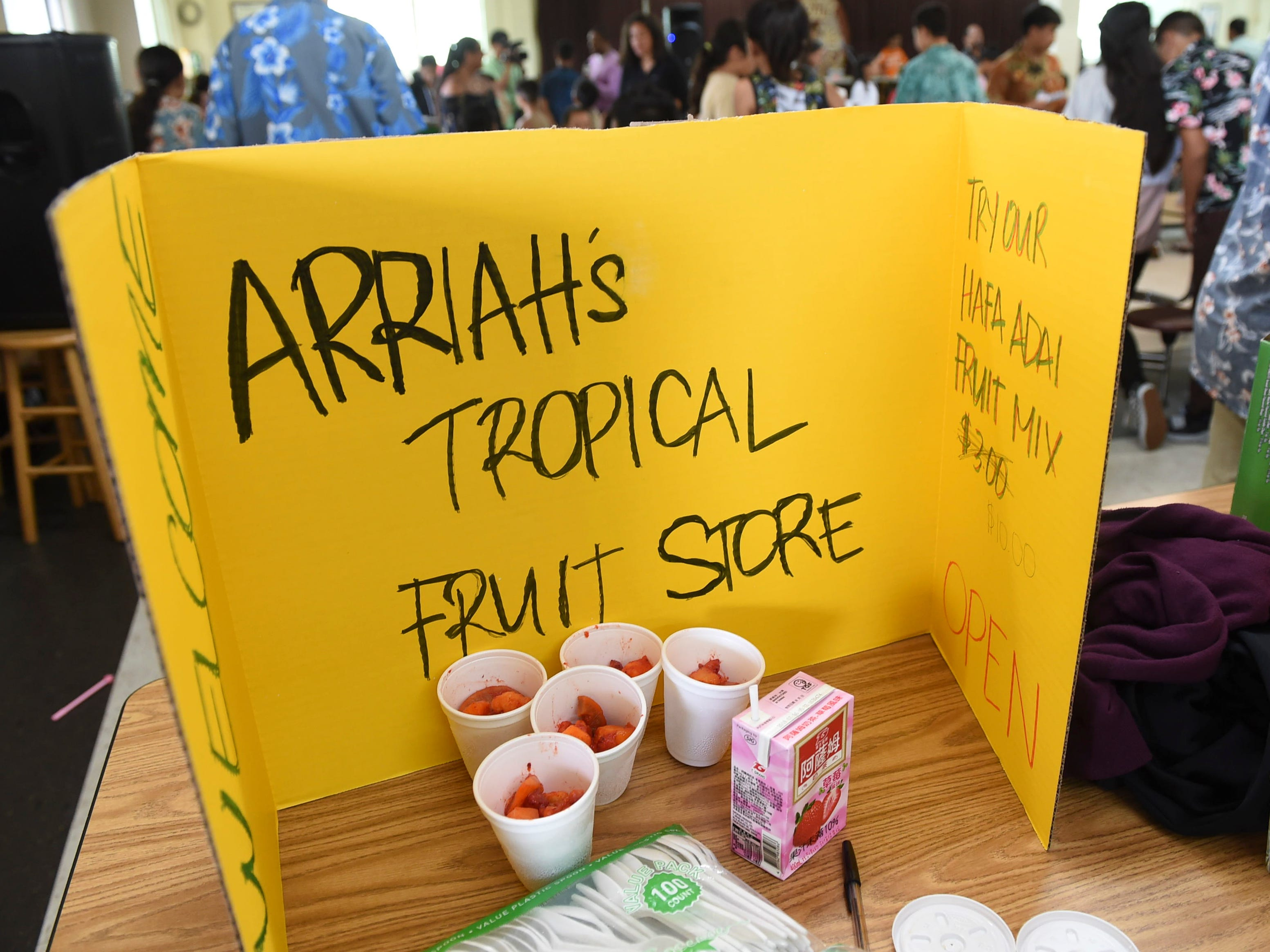 Arriah's Tropical Fruit Store during the 5th Annual Ysrael School of Business Retail Bazaar and Entrepreneur Fair at Our Lady of Mount Carmel Catholic School in Agat, Jan. 18, 2019.