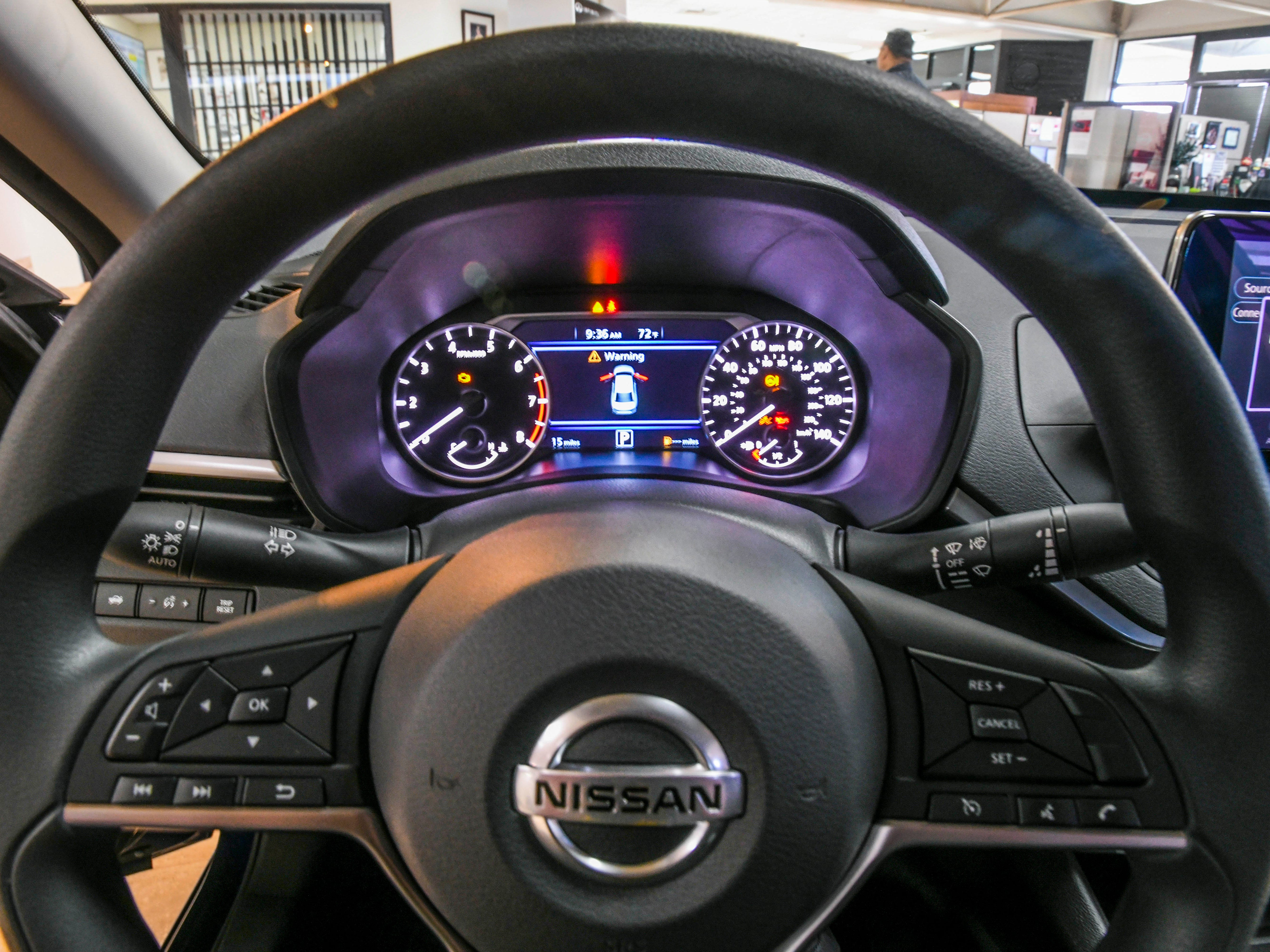 The driver's view of controls as seen on a redesigned 2019 Nissan Altima at the Nissan Guam showroom in upper Tumon on Friday, Jan. 18, 2019.
