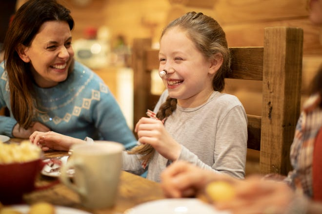 Research by the American College of Pediatricians shows that families that dine together build healthier habits and lower their risk of stress and behavior problems.
