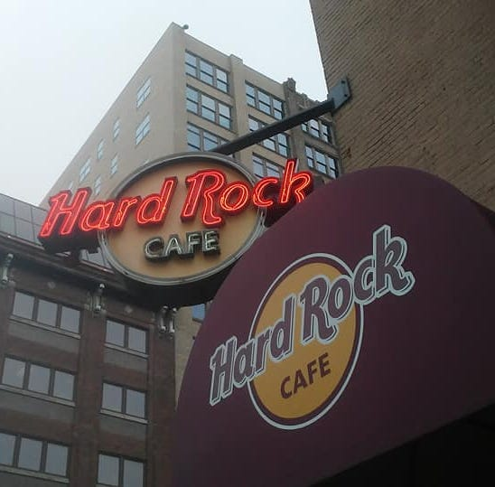 The downtown Indianapolis Hard Rock Café is...