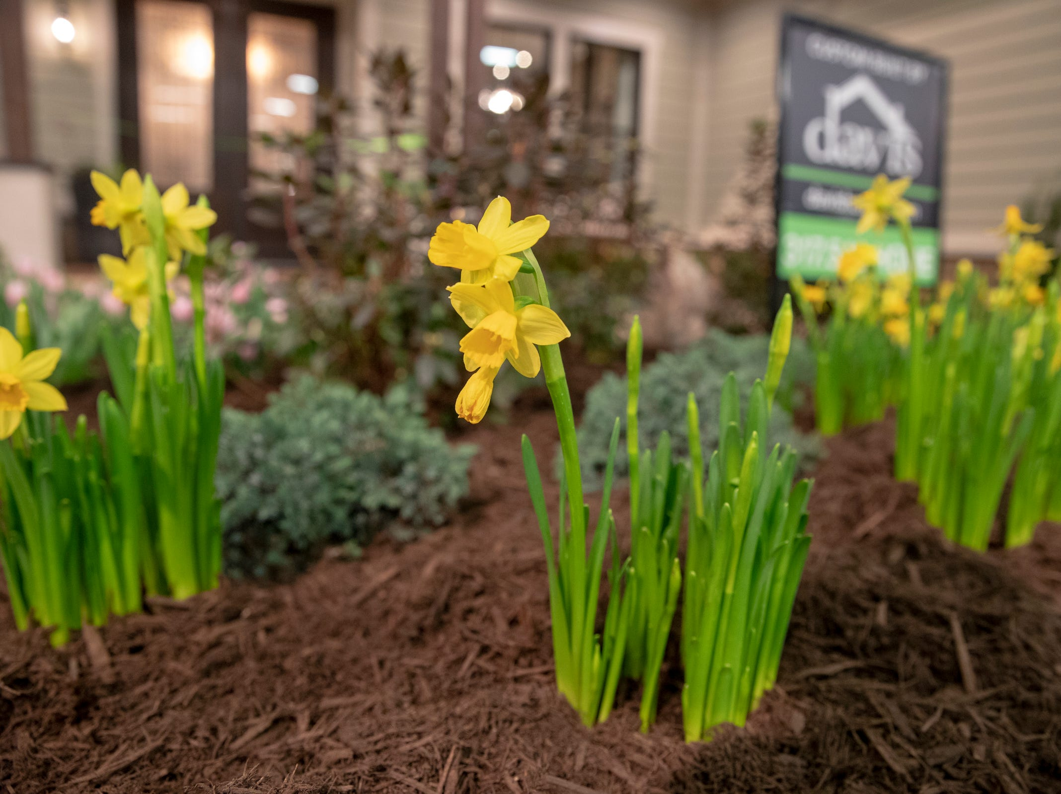 Centerpiece Home at the Indianapolis Home Show, Indiana State Fairgrounds, Indianapolis, Thursday, Jan. 17, 2018. The home, which is open through January 27 was built by Davis Homes, with an interior designed by Shelby Upchurch of Luxe Home Interiors, and landscaping by Calvin Landscape.