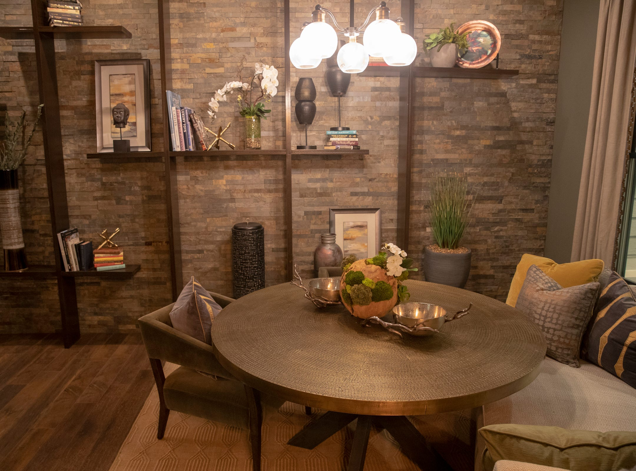 Centerpiece Home at the Indianapolis Home Show, Indiana State Fairgrounds, Indianapolis, Thursday, Jan. 17, 2019. The home, which is open through January 27 was built by Davis Homes, with an interior designed by Shelby Upchurch of Luxe Home Interiors, and landscaping by Calvin Landscape.