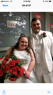 Bailey Halloran and her homecoming court escort and longtime friend, Derrick May.