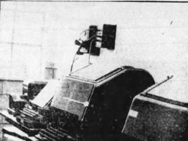 This 1937 file photo originally was published with a story about the AP wire service at the Press-Citizen offices on Washington Street in Iowa City, Iowa.