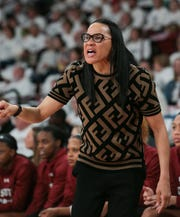 South Carolina head coach Dawn Staley has a plan to take down Mississippi State on Sunday. It all starts with stopping MSU senior center Teaira McCowan.